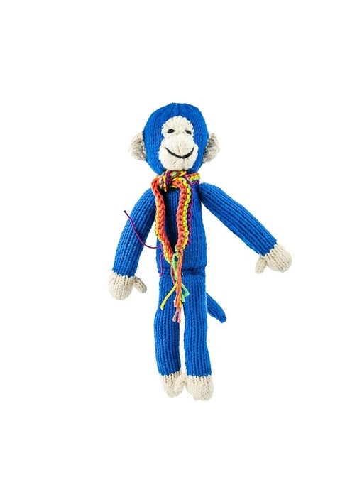 Affe in blau 26 cm aus Biobaumwolle
