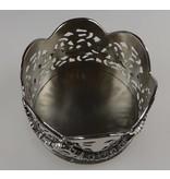 Baroque International Flaschenhalter Wein in der Farbe silber 10 cm Durchmesser