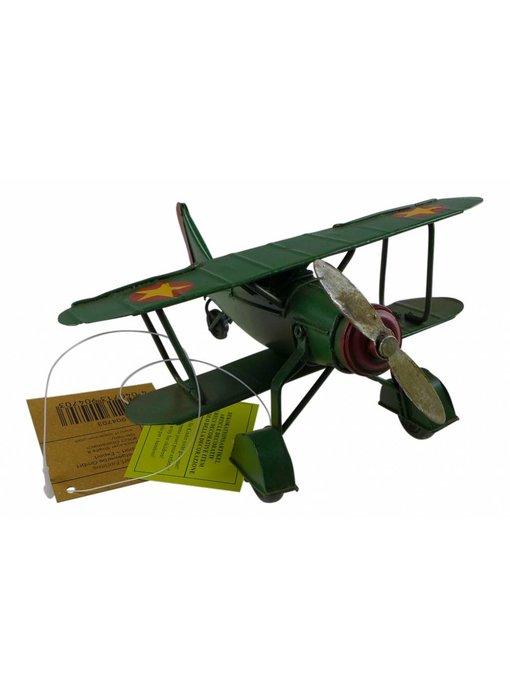 Blech Flugzeug grün