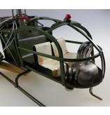 Reinhart Faelens Kunstgewerbe Hubschrauber, Helikopter aus Blech in XL in der Größe 43cm x 11 x 11,5cm
