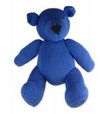 Kenana Stofftiere Teddybär dunkelblau, Stofftier, Bio Baumwolle ca. 30 cm - Kinder - Handmade - Handarbeit