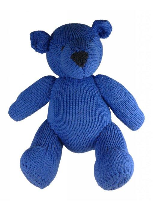 Teddybär blau, Biobaumwolle