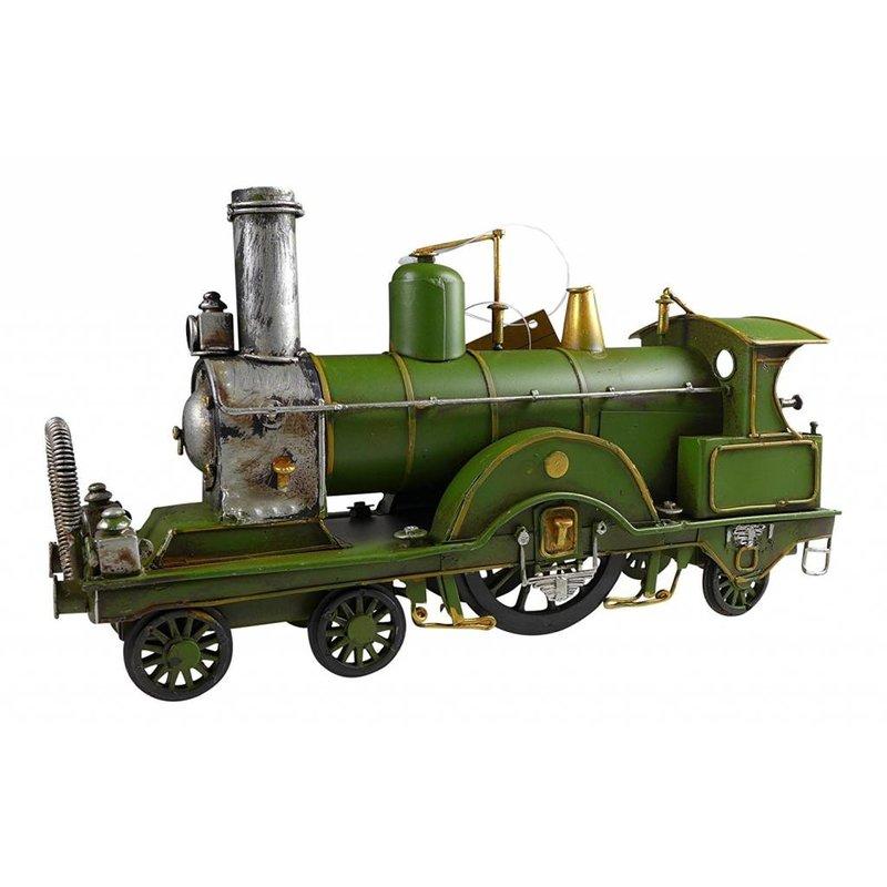 Blech-Dampflokomotive, grün
