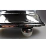 Baroque International Teelichthalter Glas und Metall  Höhe 23 cm Durchmesser 18 cm