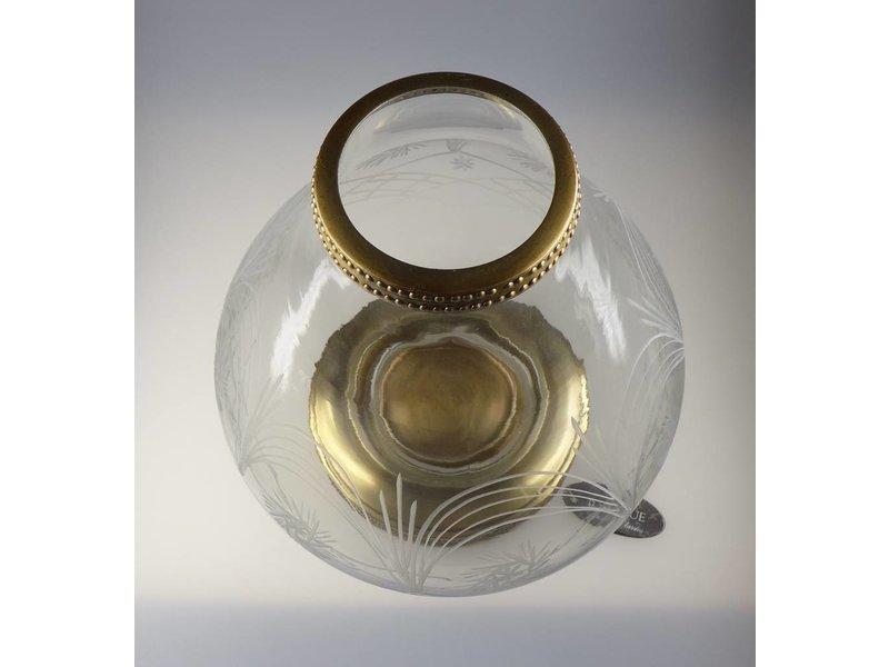 Baroque International Teelichthalter Glas und Metall  Höhe 30 cm