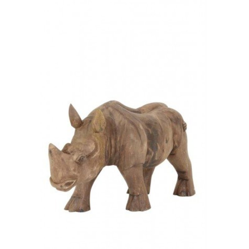 Nashorn aus Holz