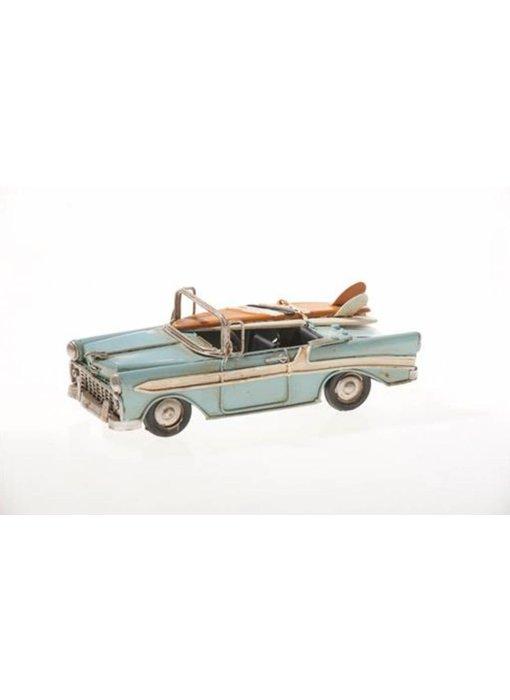 Blech-U.S.A. Cabrio, hellblau, 16,5 x 7 x 6 cm