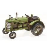 Reinhart Faelens Kunstgewerbe Blech-Traktor, hellgrün, 17,5 x 10,5 x 11,5 cm