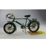"""Reinhart Faelens Kunstgewerbe Blech-Fahrrad """"Rennrad"""", grün, ca. 16 x 5,5 x 9,5 cm"""