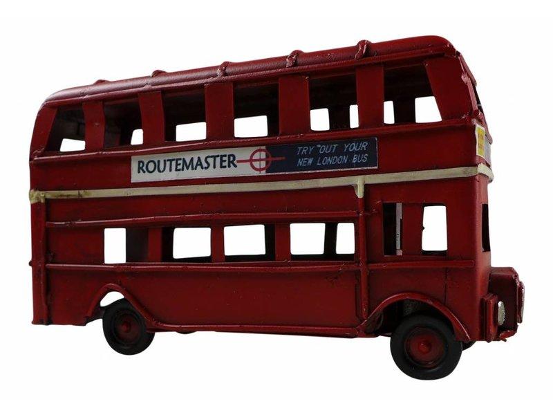 """Reinhart Faelens Kunstgewerbe Blech-Oldtimer """"London Bus"""", 11,5 x 4 x 6,5 cm"""