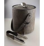 COFUR Colonial furniture & design Eiswürfelkühler inkl. Eiszange mit Leder bezogen, Höhe 18.5 cm Breite 18,5 cm