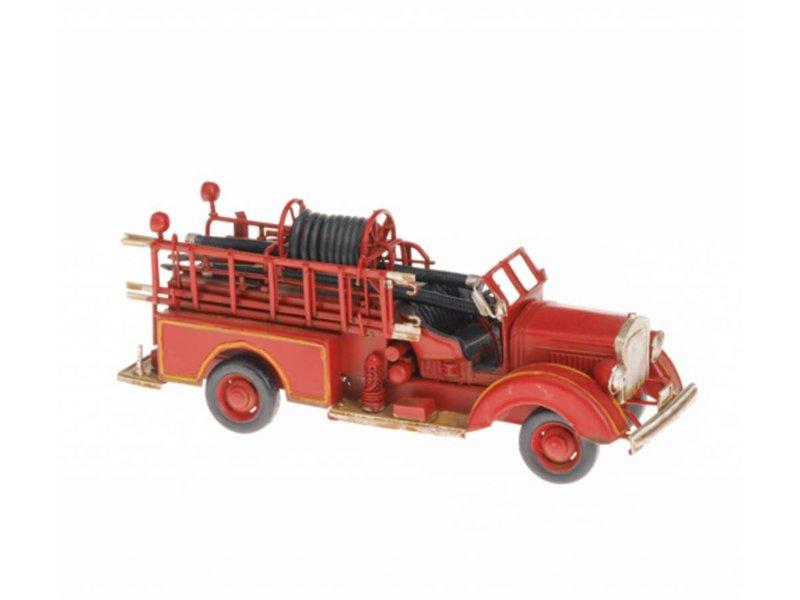 Reinhart Faelens Kunstgewerbe Blech-Oldtimer Feuerwehr, 30 x 10 x 11,5 cm