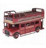 """Reinhart Faelens Kunstgewerbe Blech-Bus """"London"""", ca. 32 x 13 x 17 cm"""