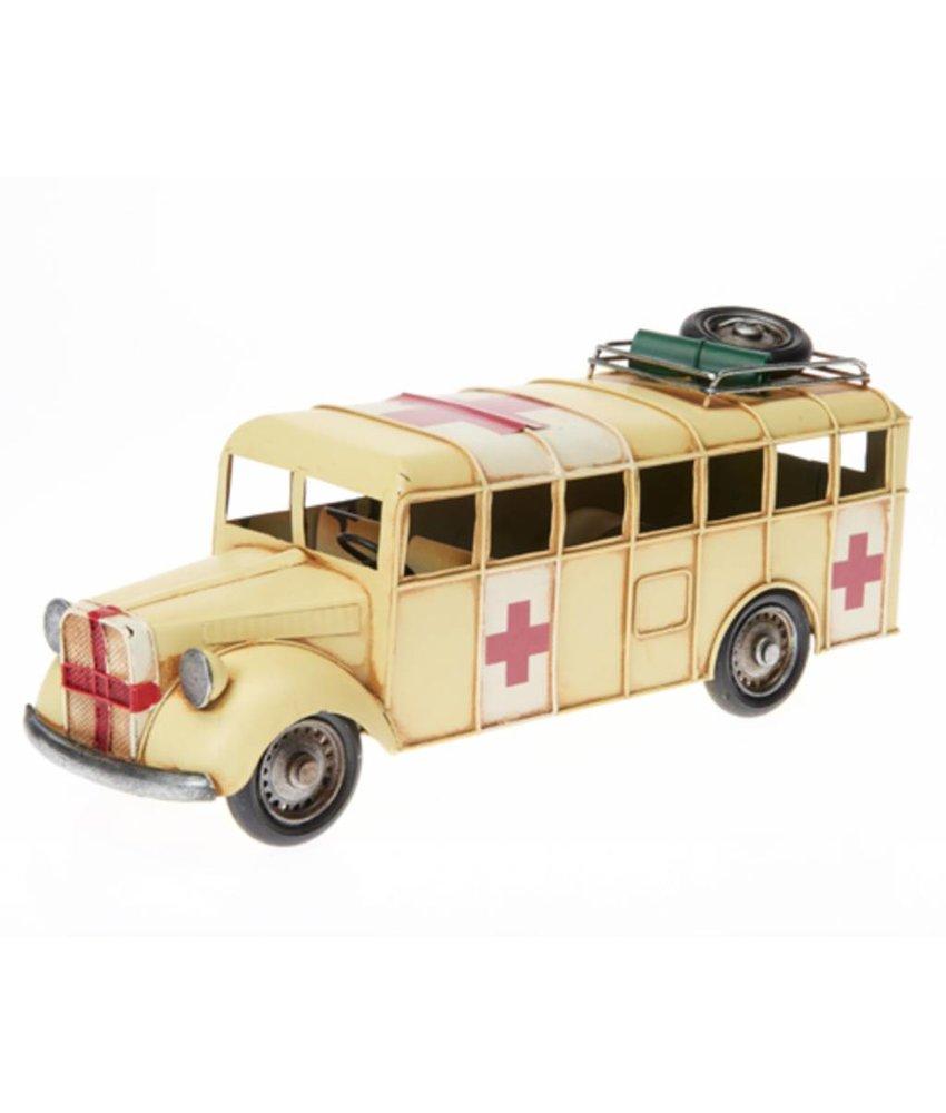 Blech-Rettungswagen, ca. 35,5 x 12 x 15 cm
