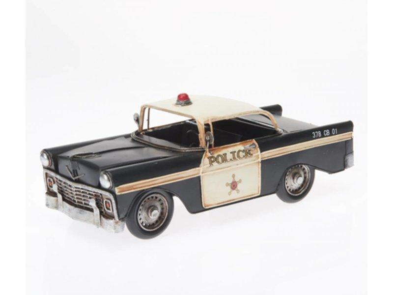 "Reinhart Faelens Kunstgewerbe Blech-Polizeiauto ""USA"", ca. 32 x 13 x 13 cm - Police Cops"