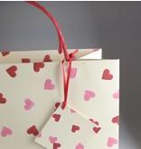 Geschenktasche Herzen in 36x28x12 cm