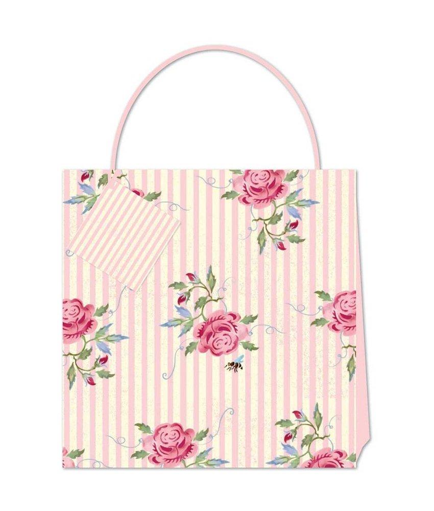 Geschenktüte L – ROSE & BEE STRIPE