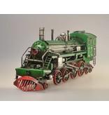 Reinhart Faelens Kunstgewerbe  Blech-Lokomotive, grün, 35 x 10 x 16 cm, das optimale Geschenk für Lokomotiven, Zug, Deutsche Bahn Liebhaber