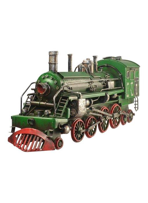 Blech-Lokomotive, grün, 35 x 10 x 16 cm