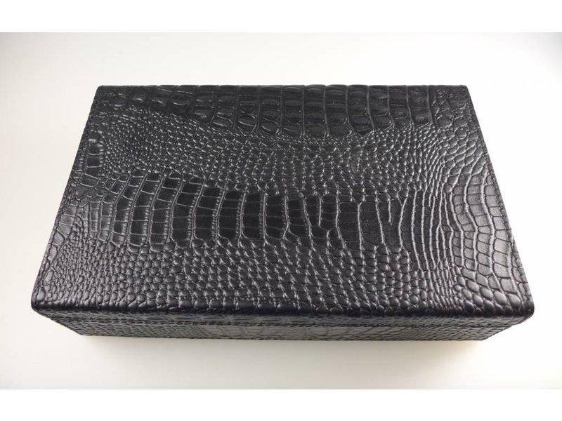 COFUR Colonial furniture & design Schmucktruhe groß im Croco Design, echtes Leder in L27xB17xH7