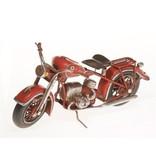 Reinhart Faelens Kunstgewerbe Blech-Motorrad, rot, 27 x 12,5 x 10,5 cm