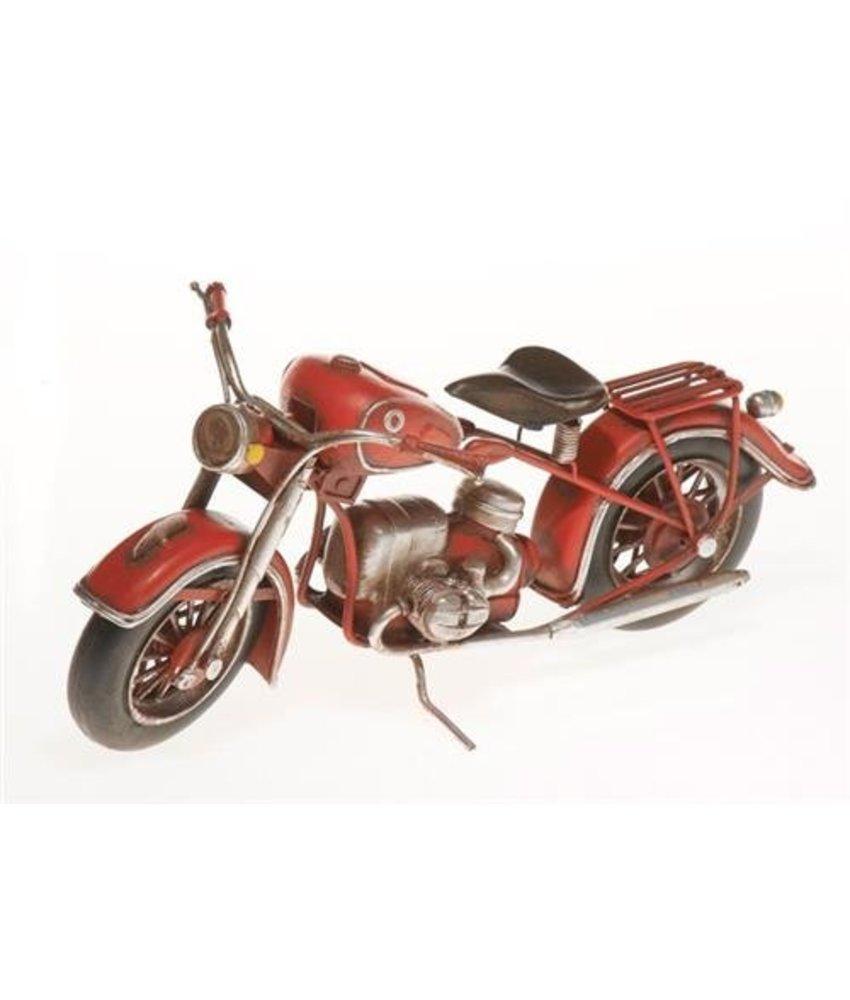 Blech-Motorrad, rot, 27 x 12,5 x 10,5 cm