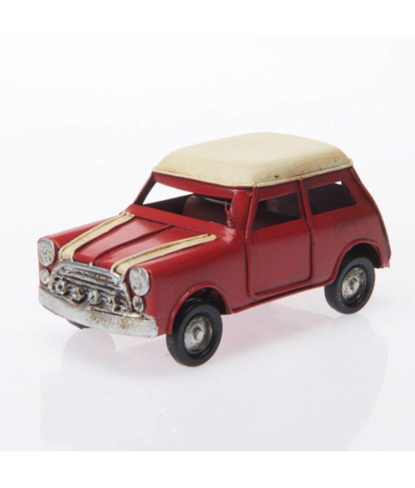 Blech-Mini, rot/weiß, ca. 11 x 5 x 5 cm