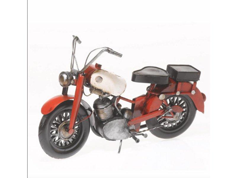 Reinhart Faelens Kunstgewerbe Motorrad BMW aus Metall 25 cm Oldtimer Nostalgie Blech Modell