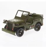 Reinhart Faelens Kunstgewerbe Nostalgie Blechspielzeug, Blech Military Geländewagen, Oldtimer Militärfahrzeug 16,5cm