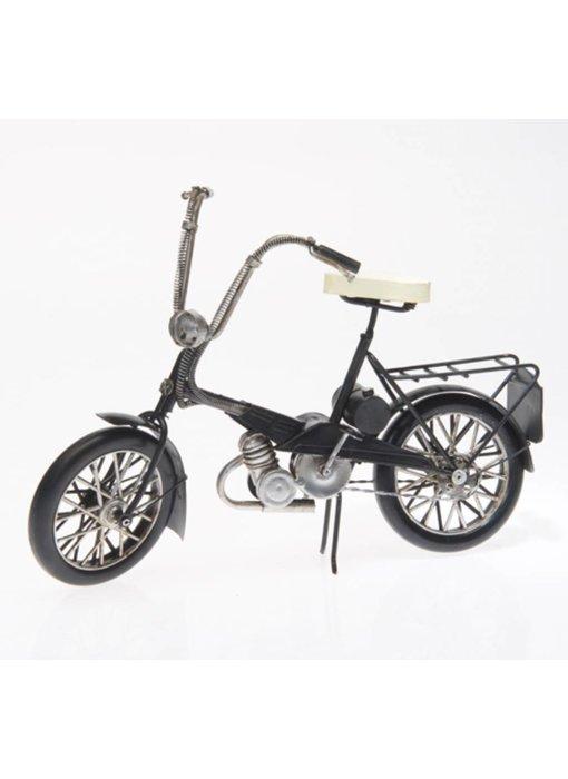 Blech-Fahrrad mit Korb