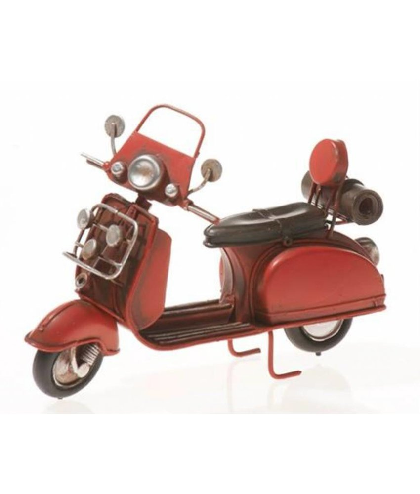 Blech Motorroller in rot