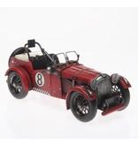 Reinhart Faelens Kunstgewerbe Oldtimer Rennwagen aus Metall 33 cm rot PKW Nostalgie Auto Fahrzeug