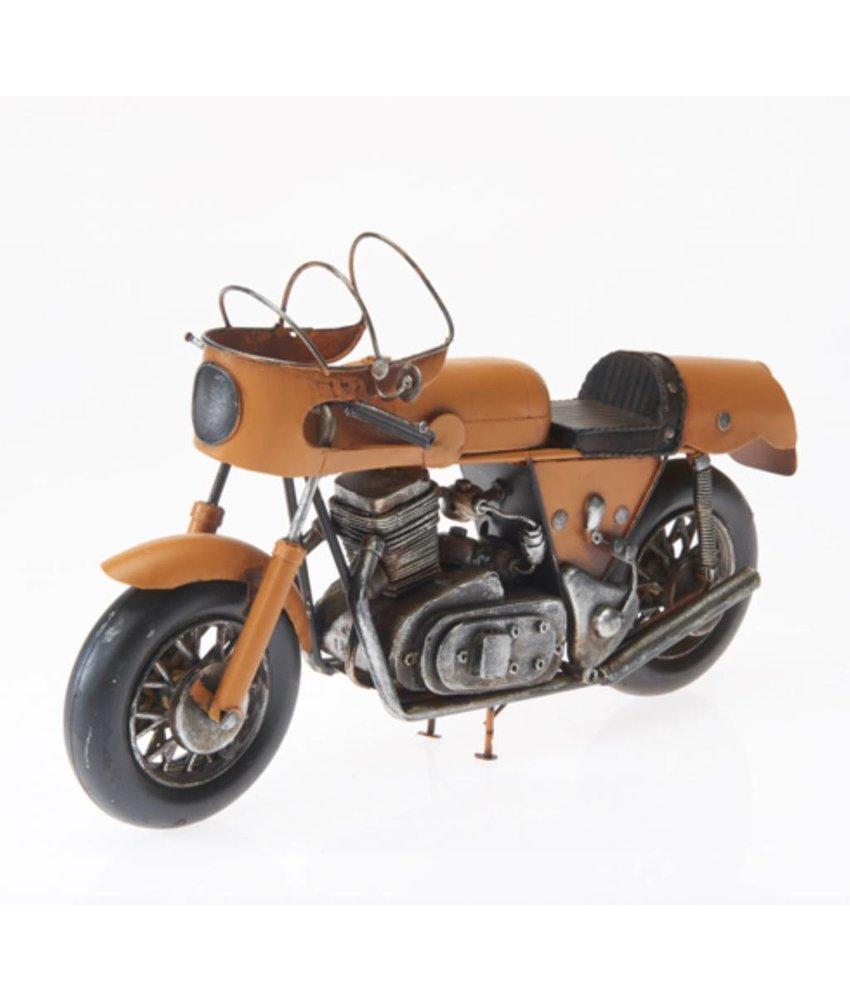 Blech-Motorrad, gelb