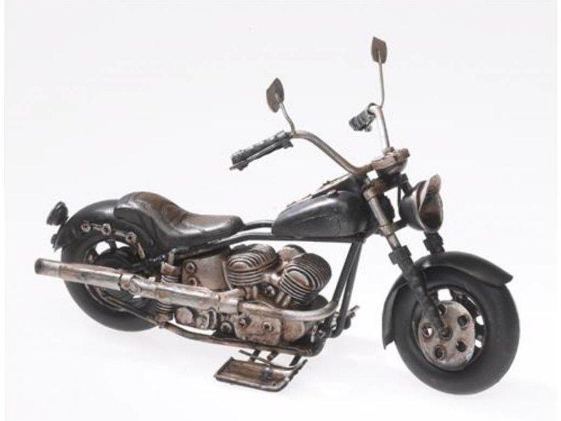Reinhart Faelens Kunstgewerbe Blech-Motorrad, schwarz, 19 x 8,5 x 11,5 cm