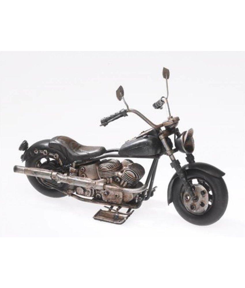 Blech-Motorrad, schwarz, 19cm