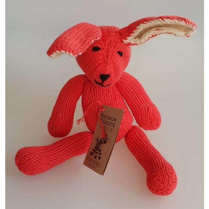 Baumwoll-Hase in rot