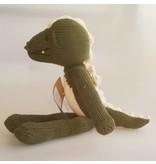 Kenana Stofftiere Grünes Krokodil, Stofftier, Bio Baumwolle ca. 40 cm - Kinder Handmade - Handarbeit