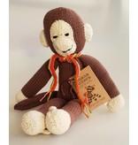 Kenana Stofftiere Affe aus Wolle, 35 cm, Handarbeit
