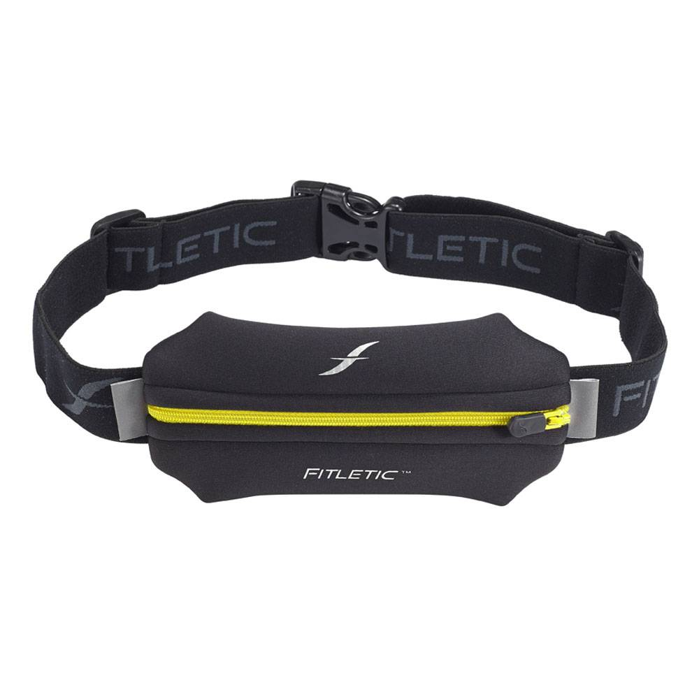 Fitletic Fitletic N01-5 Single Pouch Heupband Zwart & Geel