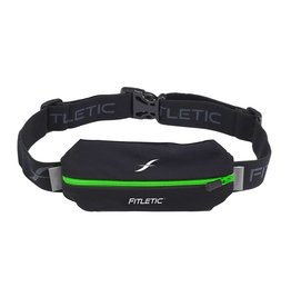 Fitletic Fitletic MSB01-06 Lycra Mini Sport Belt Zwart & Groen