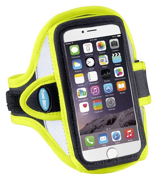 Tune Belt Tune Belt AB86RY Sport armband reflecterend geel