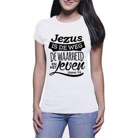 Continental Clothing Dames T-shirt (Johannes 14:6)