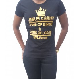 Continental Clothing Dames T-shirt (Jesus King of kings)