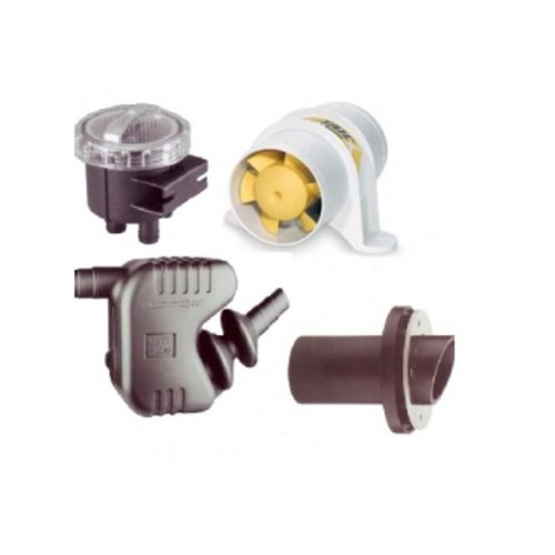 Ventilatie/ koel water/ filter/ uitlaatdemper