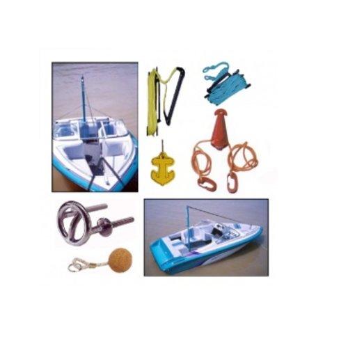 Ski accessoires en drijvende sleutelhangers