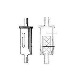 Benzine filter 1/4 (5/6 mm) slang (REC40145)