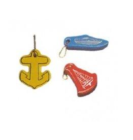 Drijvende sleutelhanger Anker, Speedboot of Zeilboot