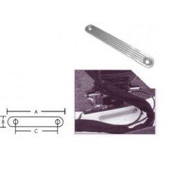 Aluminium, hoge kwaliteit, Spiegel tegen plaat t.b.v montage buitenboordmotor, Verdeelt de inspanning van de schroeven en klemmen van de motor over de plaat