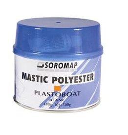 Polyester wit mastiek, aanbevolen voor finitions. Hoge schok-bestendigheid en hitteproef tussen -30 tot + 125°C Bestelnummer: SOR85227