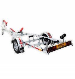 Damco kwaliteits trailer DK 1001 geremd, kantelbaar 5 jaar garantie